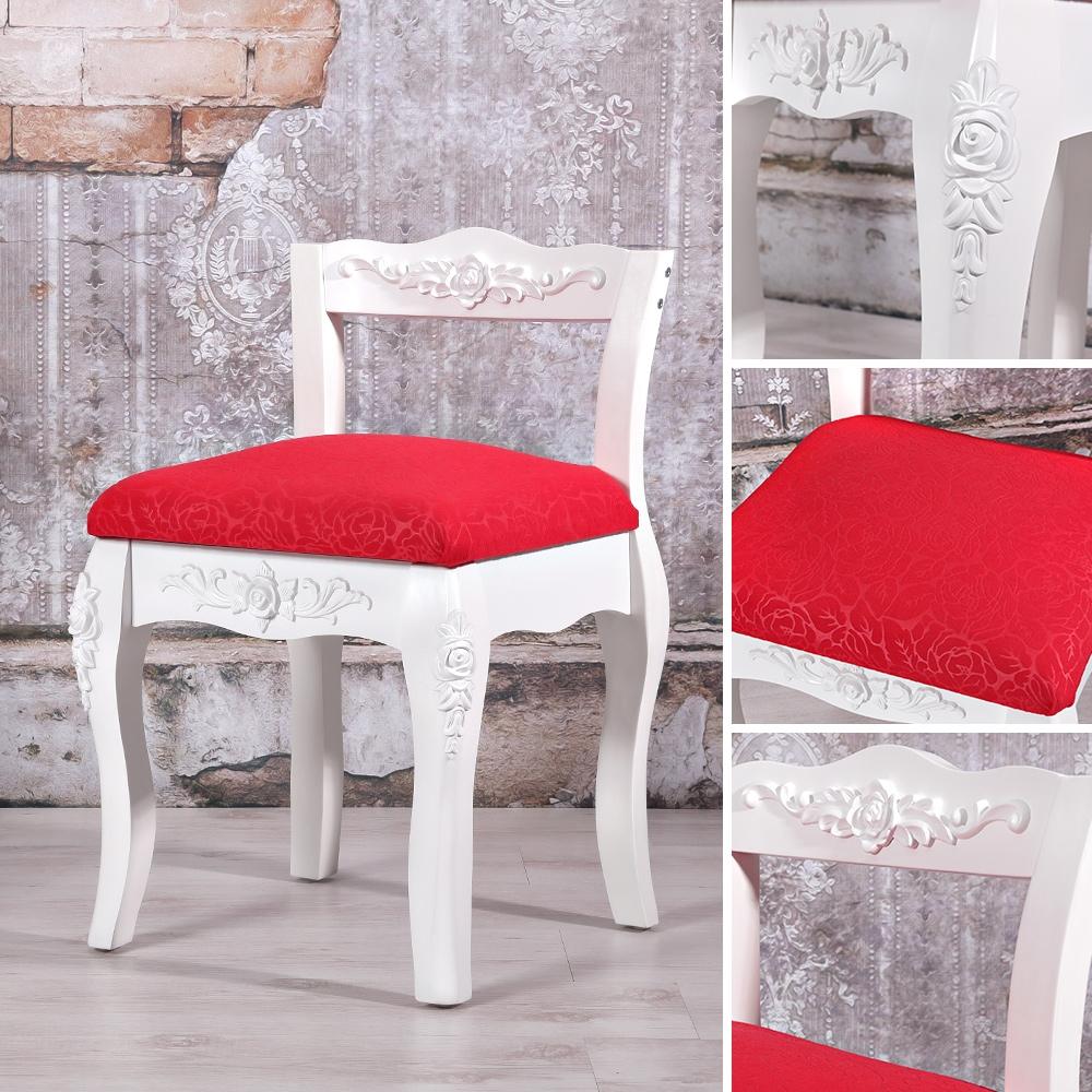 polsterhocker schminktischhocker hocker f r schminktisch landhaus barock wei ebay. Black Bedroom Furniture Sets. Home Design Ideas