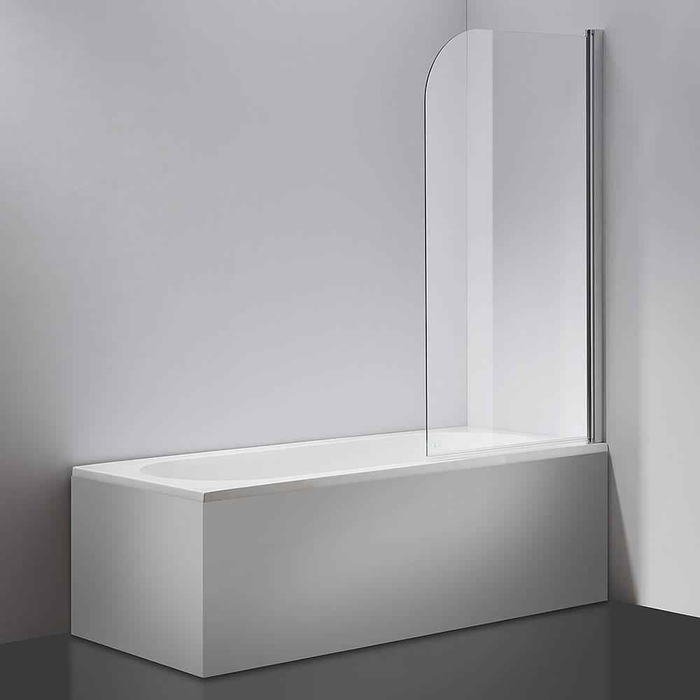 140x80cm badewannen duschabtrennung aus glas badewannenfaltwand duschwand neu ebay. Black Bedroom Furniture Sets. Home Design Ideas