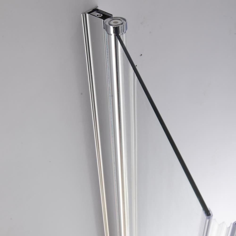 139x119cm badewannen duschabtrennung aus glas badewannenfaltwand duschwand neu ebay. Black Bedroom Furniture Sets. Home Design Ideas