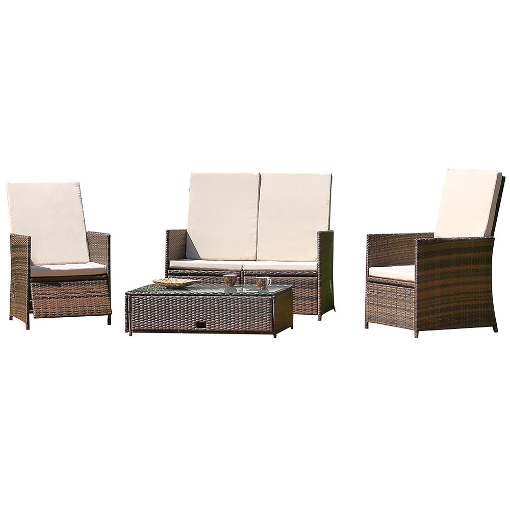 polyrattan gartenm bel set sitzm bel rattanm bel lounge. Black Bedroom Furniture Sets. Home Design Ideas