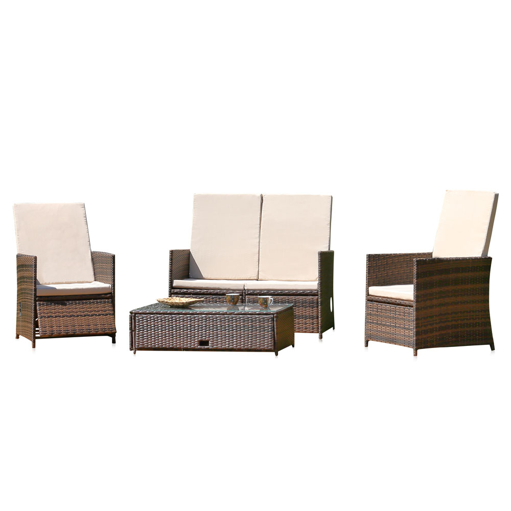 Polyrattan Lounge Sitzgarnitur Sitzgruppe Gartenmöbel ...