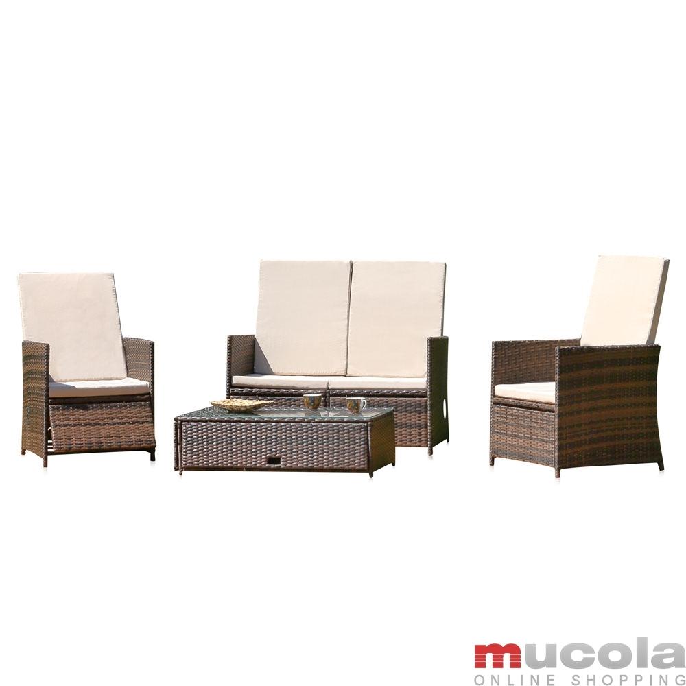 Gartenmobel Set Weib Metall : Szczegóły o Polyrattan Lounge Sitzgarnitur Sitzgruppe Gartenmöbel