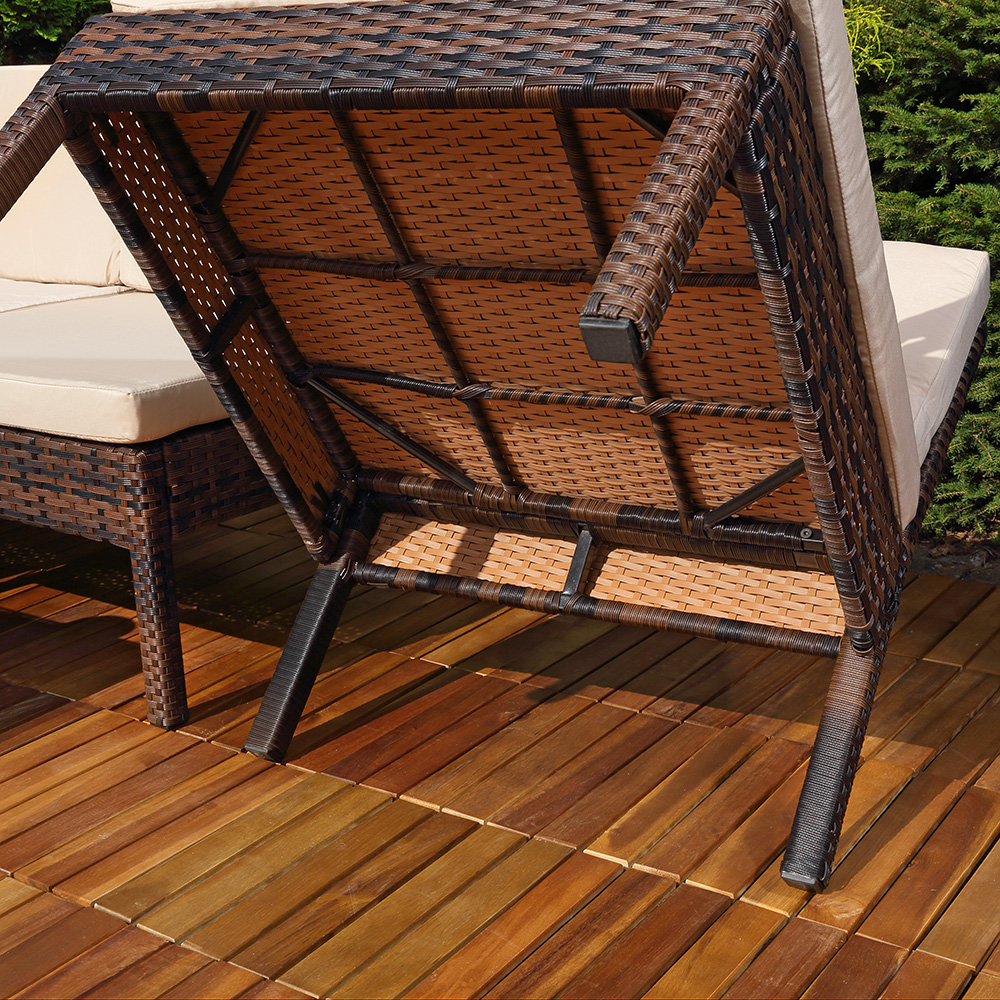 ecksofa mit tisch und auflagen garten lounge poly rattan. Black Bedroom Furniture Sets. Home Design Ideas