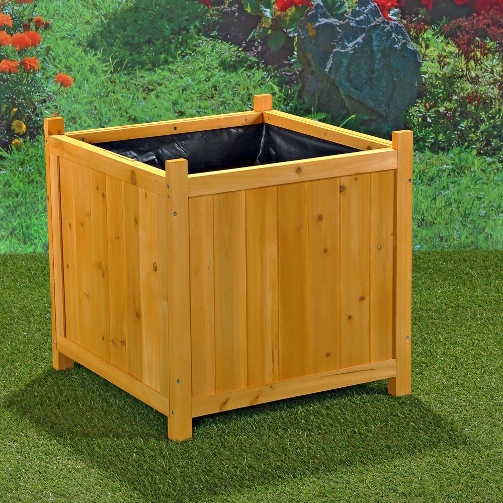 2xgarten blumenk bel holz pflanzkasten blumentrog blumentopf bertopf eckig eur 60 90. Black Bedroom Furniture Sets. Home Design Ideas