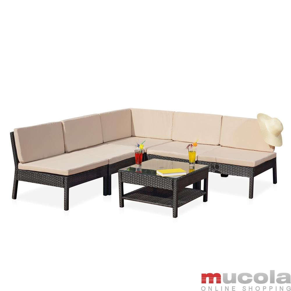 Gartenmobel Set Weib Metall : Polyrattan Lounge Sitzgarnitur Sitzgruppe Gartenmöbel Gartenlounge