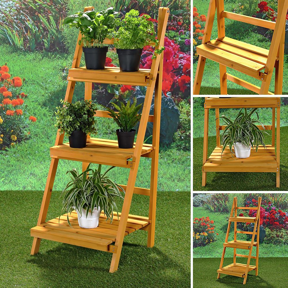 Pflanzentreppe Blumenampel Blumenregal Blumenpodest Gartenregal ... Blumentreppe Holz Metall Pflanzentreppe