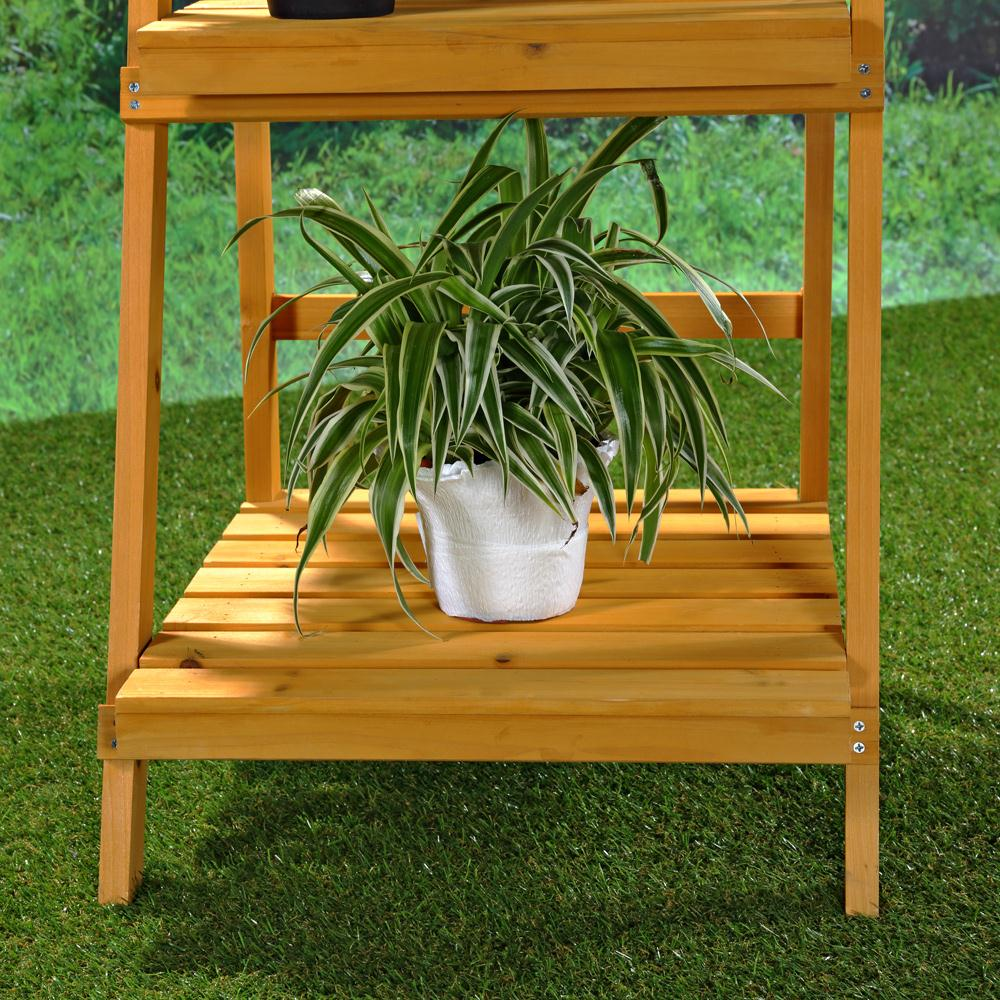 pflanzentreppe blumenampel blumenregal blumenpodest gartenregal regal holz ebay. Black Bedroom Furniture Sets. Home Design Ideas