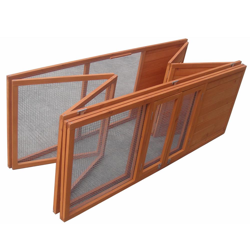 freilaufgehege zusammenklappbar f r hasen kleintiere nager. Black Bedroom Furniture Sets. Home Design Ideas