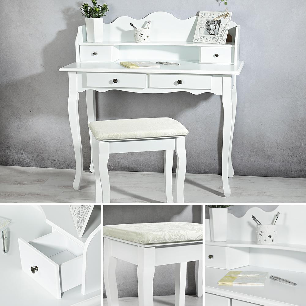 landhaus schreibtisch sekret r wei arbeitstisch. Black Bedroom Furniture Sets. Home Design Ideas