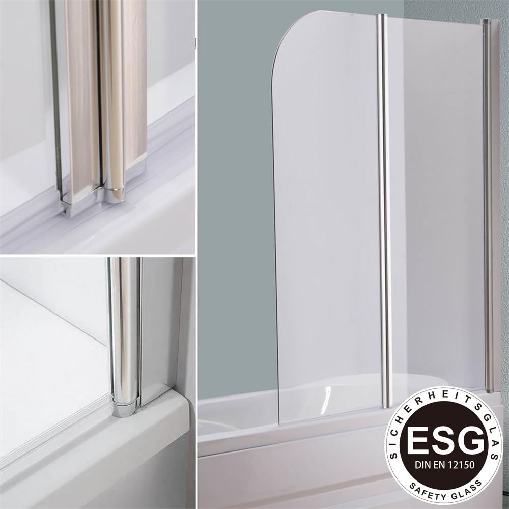 badewannenaufsatz 140 cm glas duschabtrennung badewanne badewannenfaltwand ebay. Black Bedroom Furniture Sets. Home Design Ideas
