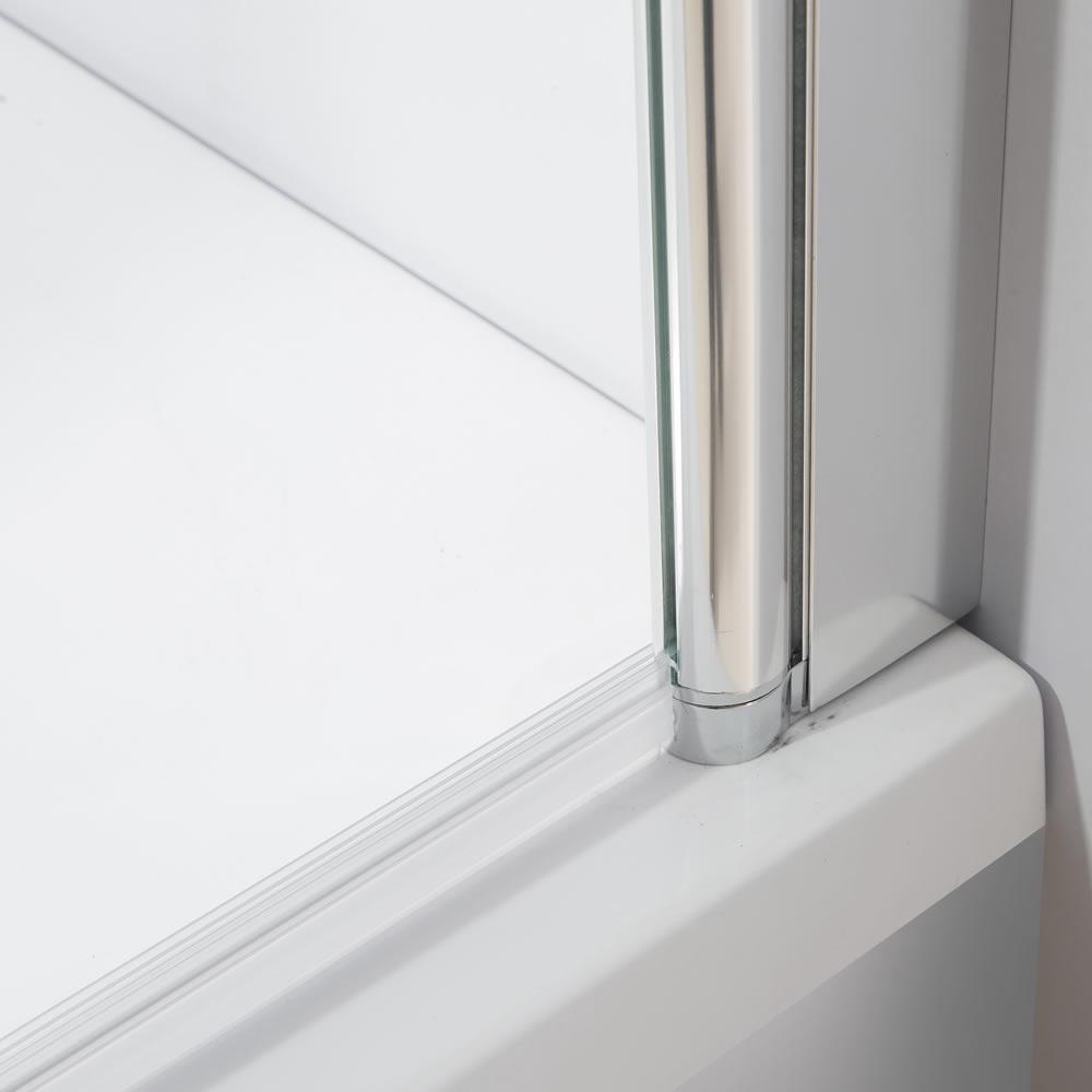 glas badewannen duschabtrennung satiniert streifen duschwand badewannenaufsatz ebay. Black Bedroom Furniture Sets. Home Design Ideas