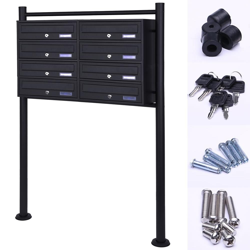 briefkasten schwarz briefkasten ohne zeitungsfach schwarzer wandbriefkasten pina radius radius. Black Bedroom Furniture Sets. Home Design Ideas