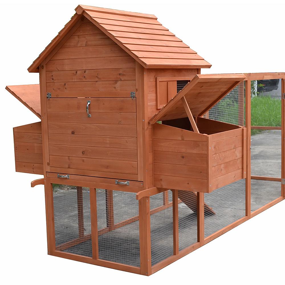 h hnerstall mit freigehege h hnerhaus gefl gelstall kaninchenk fig auslauf holz ebay. Black Bedroom Furniture Sets. Home Design Ideas