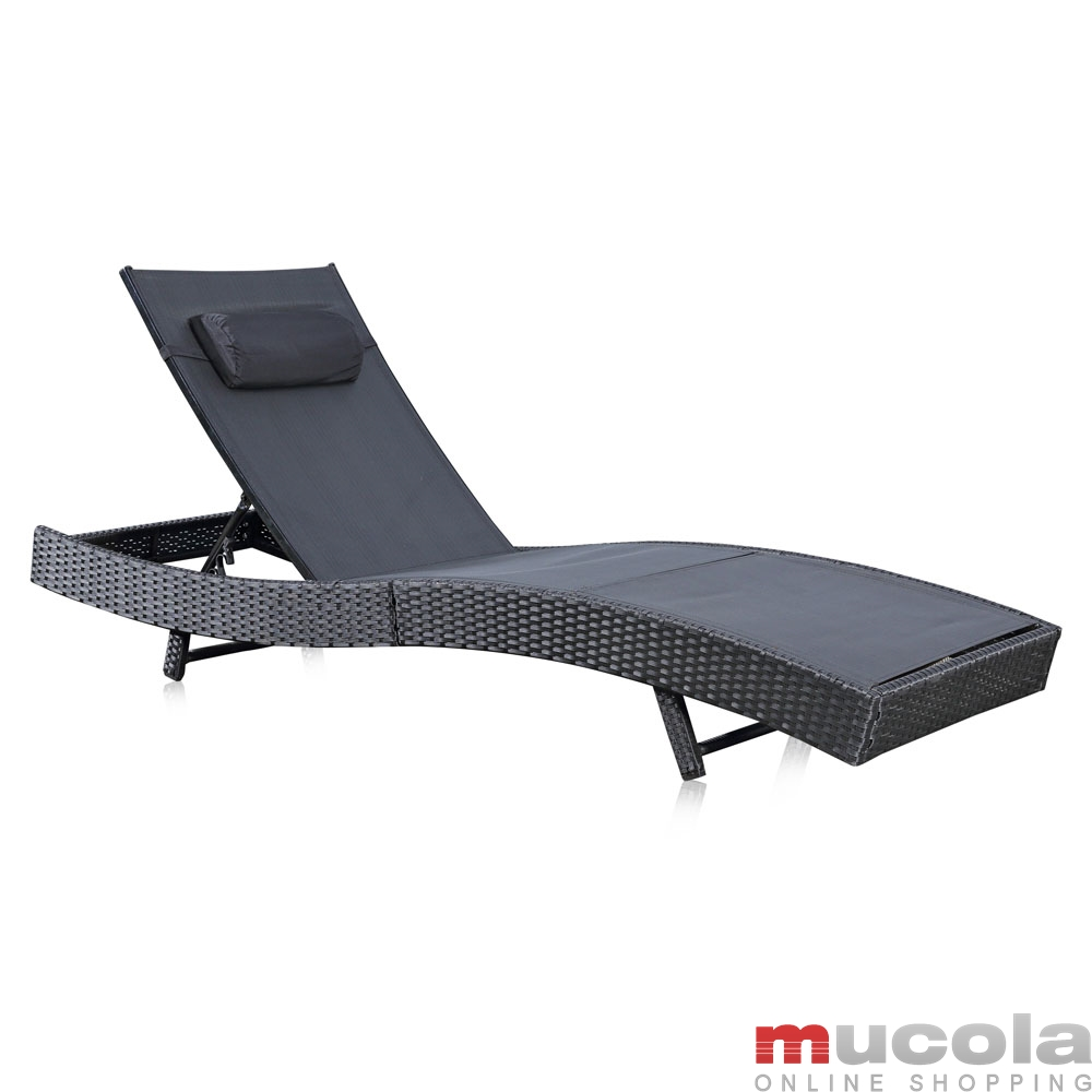 rattan loungeliege sonnenliege gartenliege relaxliege terrassenliege gartenm bel ebay. Black Bedroom Furniture Sets. Home Design Ideas