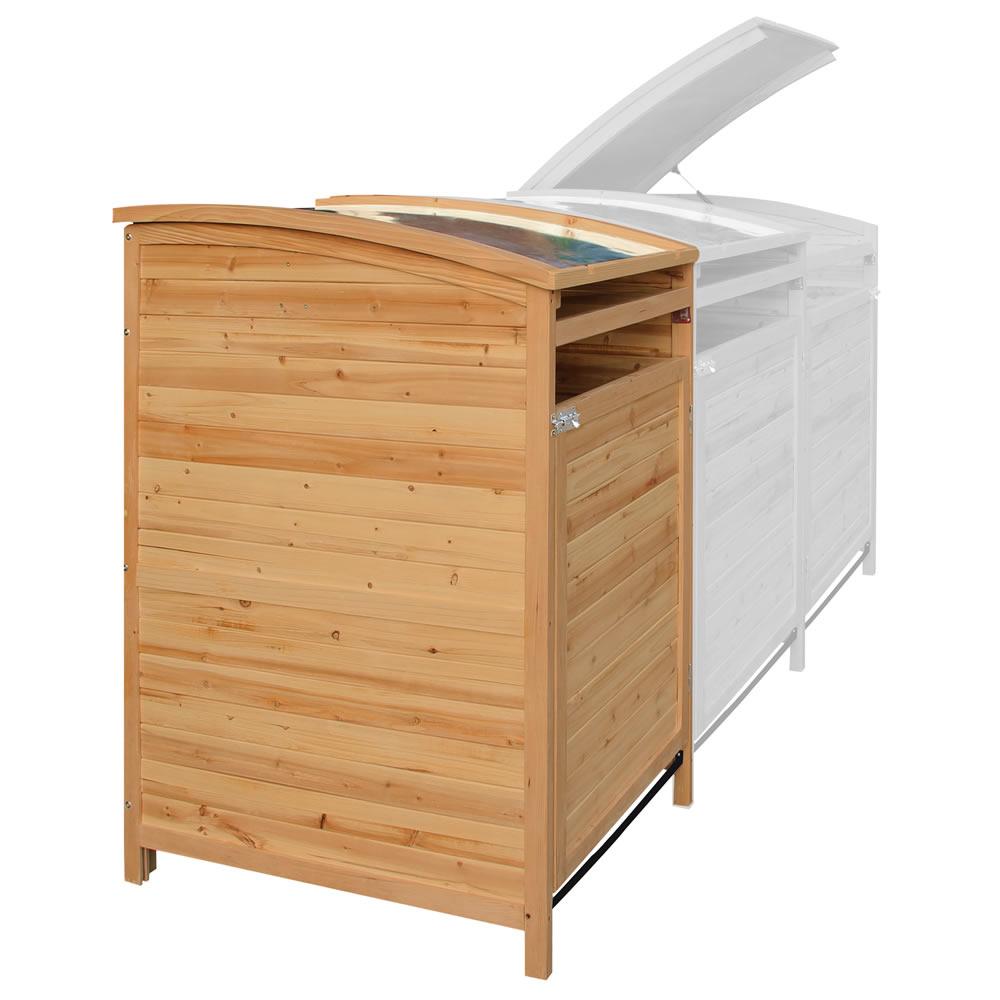 m lltonnenverkleidung holz doppelbox 240 l m lltonnenschrank deckel gartenbox ebay. Black Bedroom Furniture Sets. Home Design Ideas
