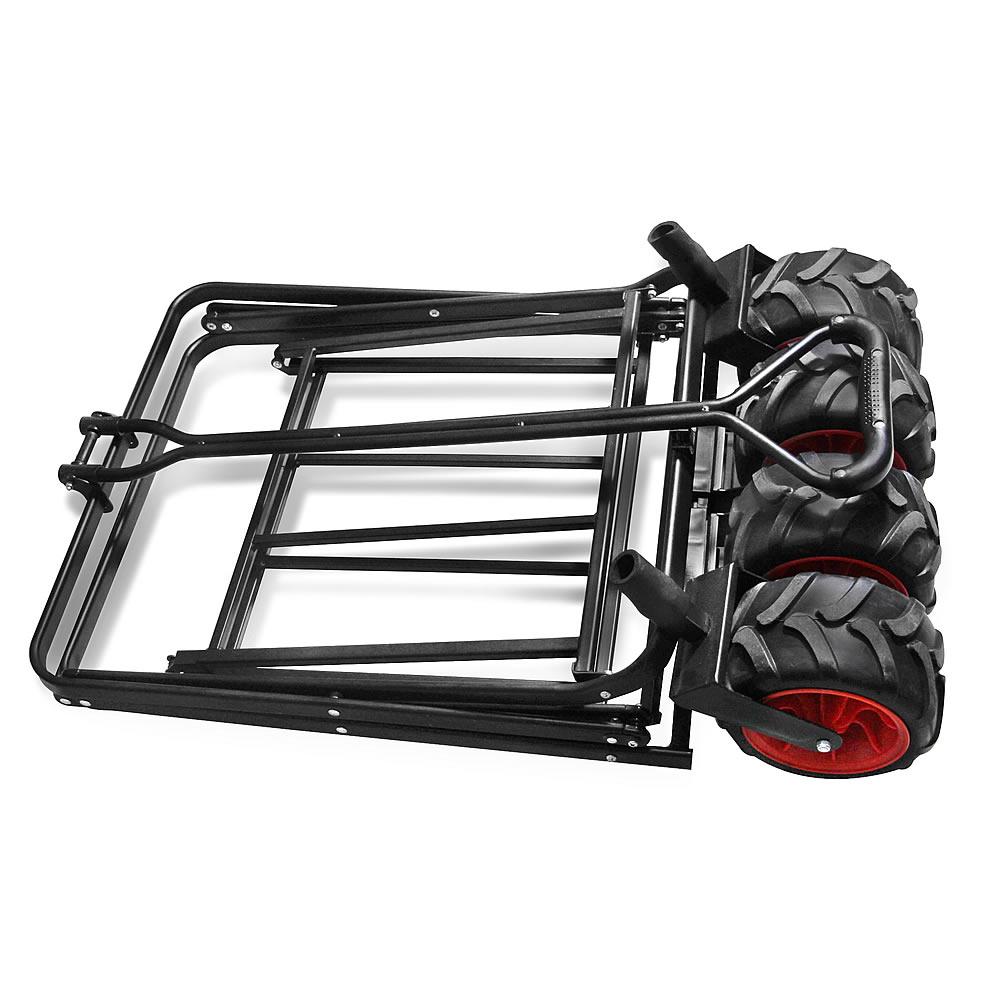 Mucola bollerwagen schwarz rot klappbar handwagen