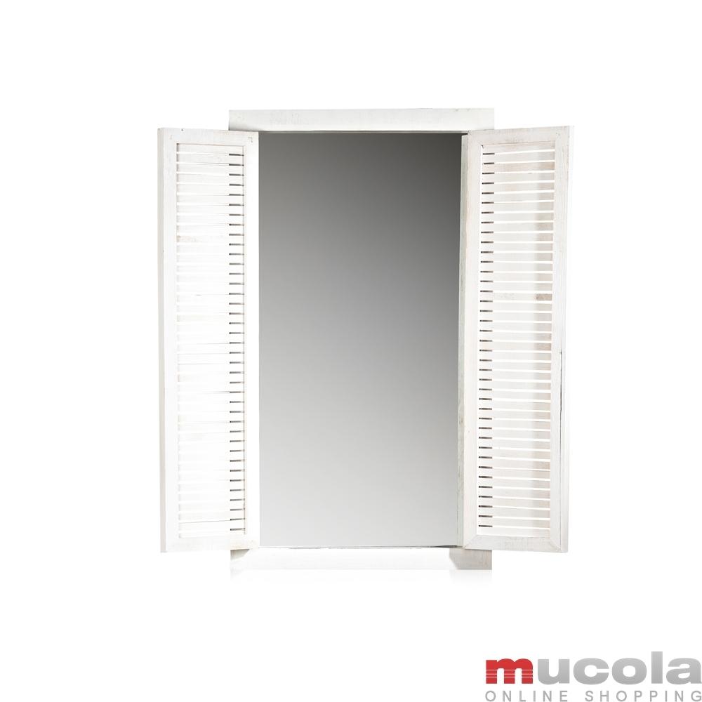Wandspiegel Deko Spiegel Fensterladen Bilderrahmen Shabby Holz ...