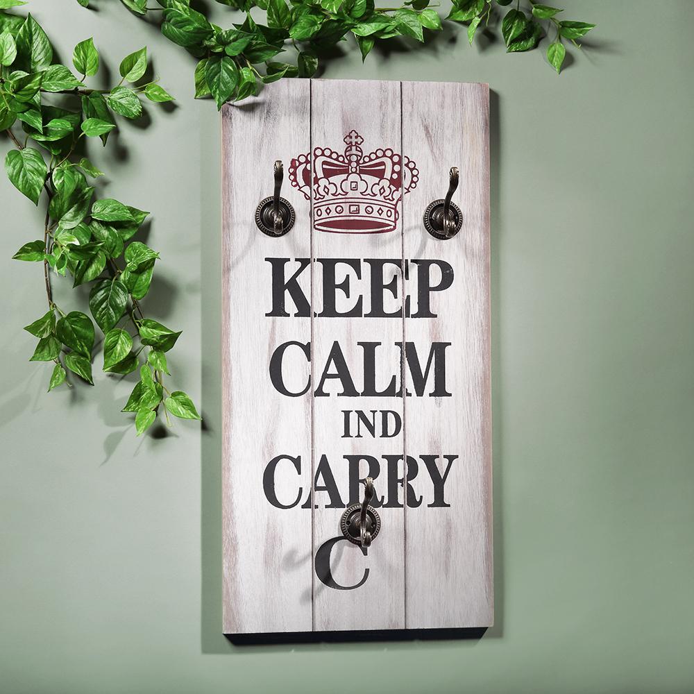 keep calm shabby chic garderobenpaneel h ngegarderobe. Black Bedroom Furniture Sets. Home Design Ideas
