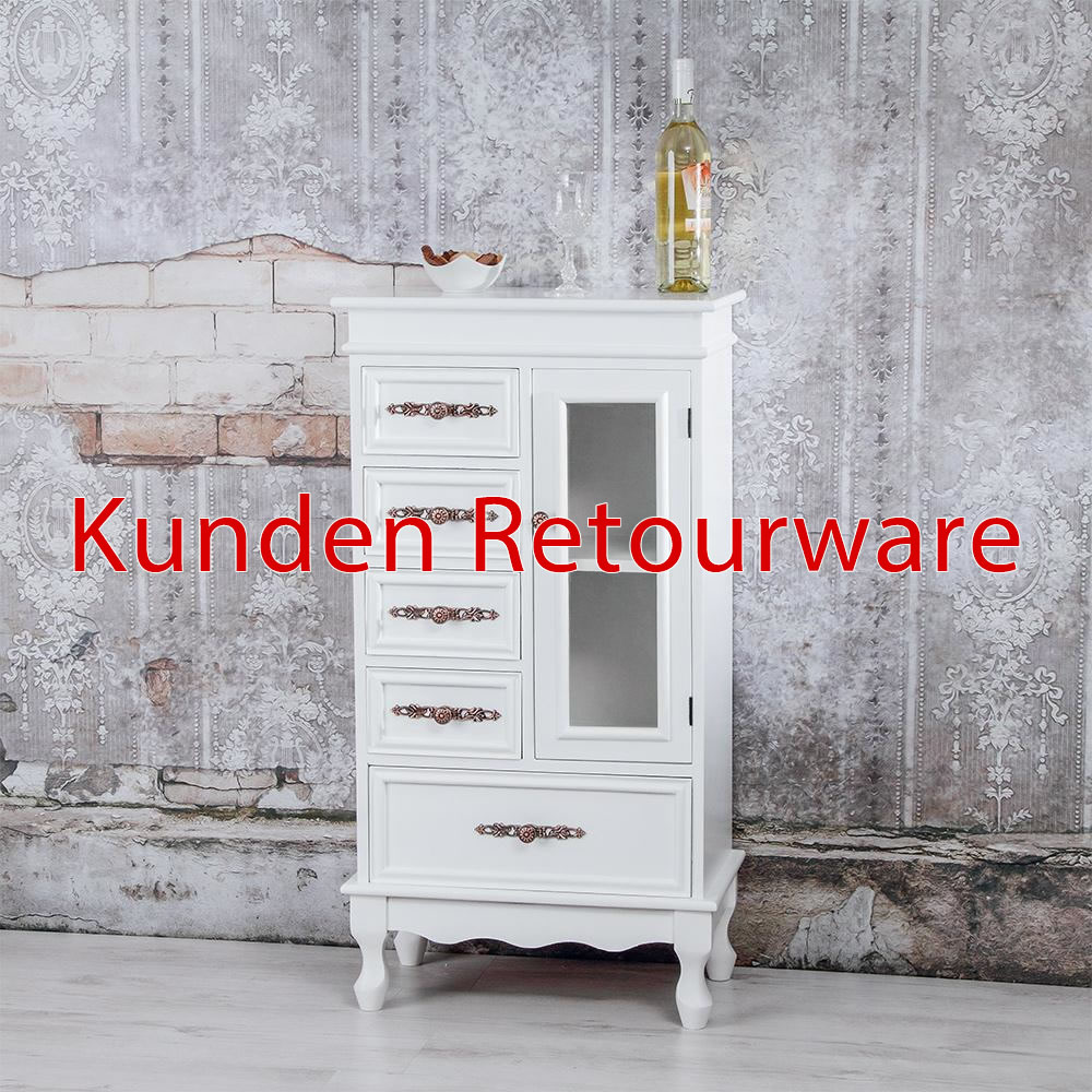 B-Ware Sideboard Kommode Schubladenschrank Regal Holz braun/weiß ...