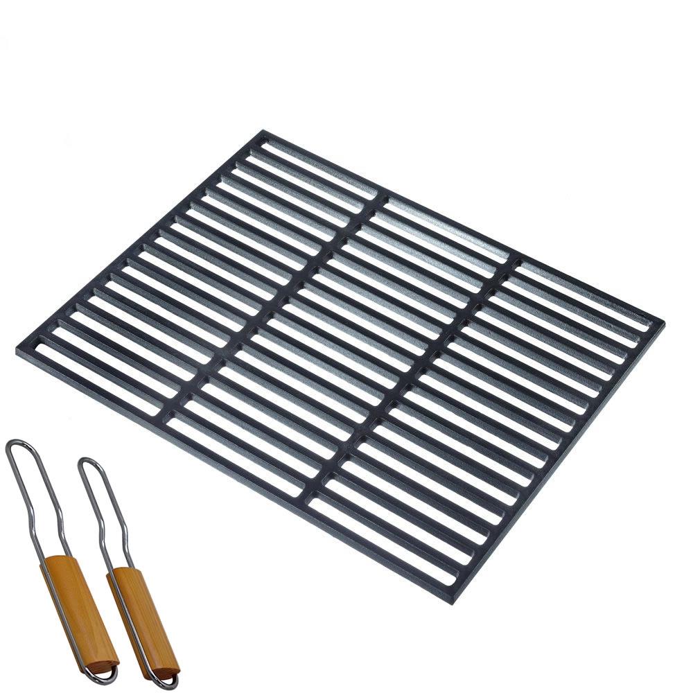 grillrost aus gu eisen grillgitter eckig gussrost gitter grill rost grillaufsatz. Black Bedroom Furniture Sets. Home Design Ideas