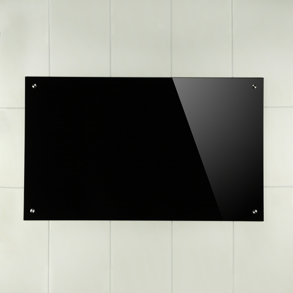 70x40cm glas k chenr ckwand spritzschutz schwarz. Black Bedroom Furniture Sets. Home Design Ideas