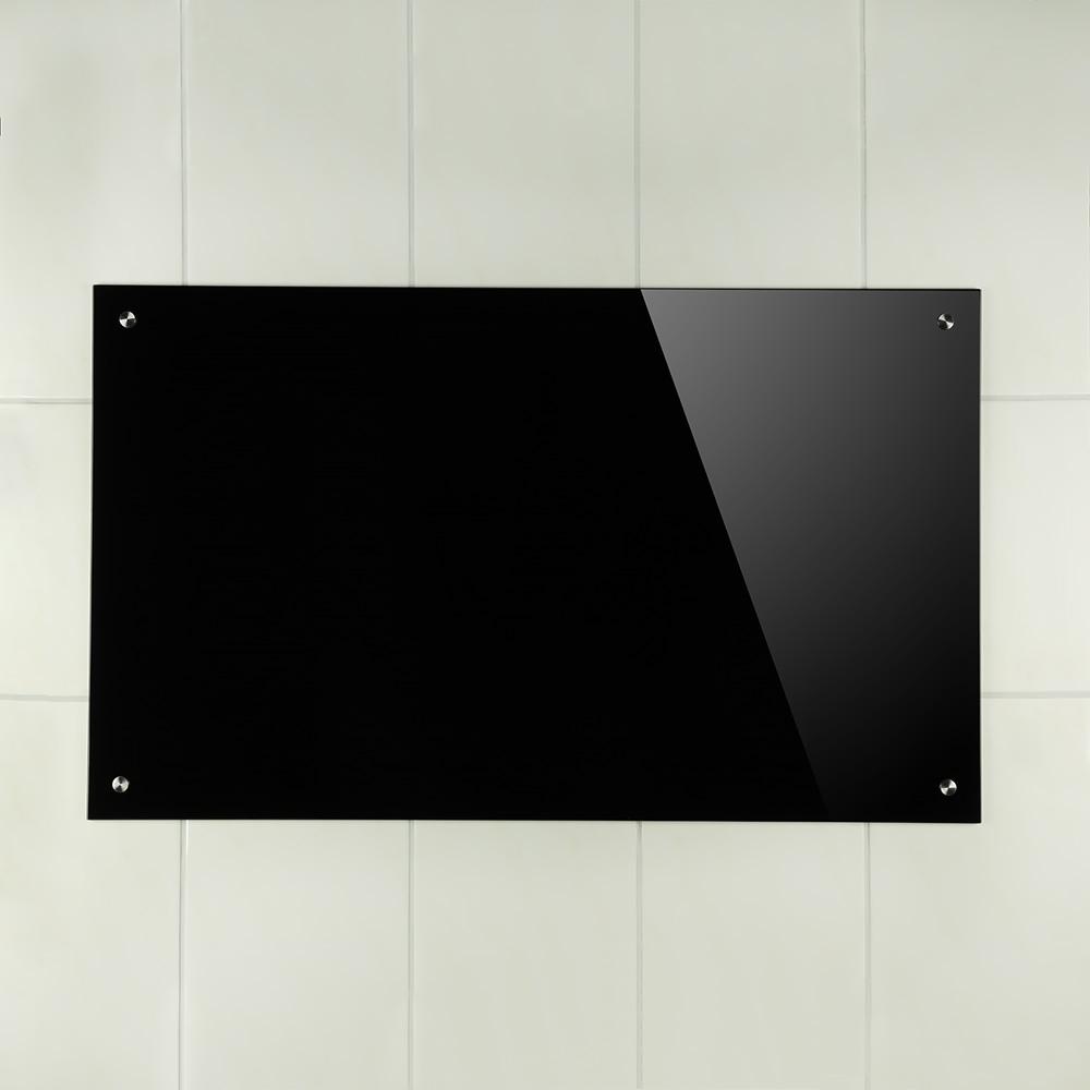70x40cm glas kuchenruckwand spritzschutz schwarz for Küche wandschutz