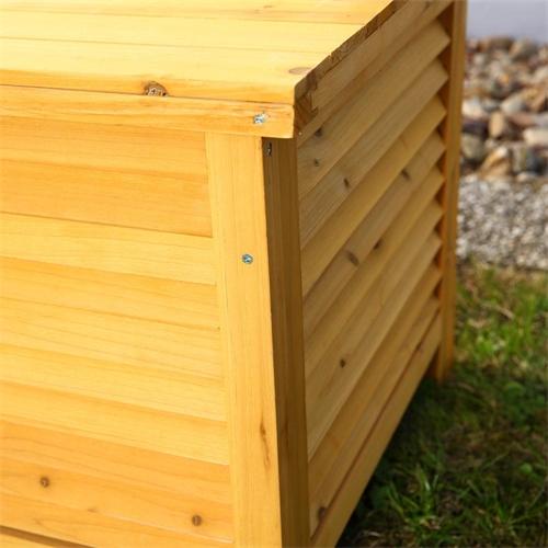 gartentruhe holz kissenbox truhenbank gartenbox holzbank auflagenbox truhe neu ebay. Black Bedroom Furniture Sets. Home Design Ideas