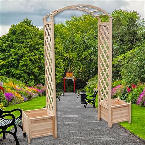 Rosenbogen Holz Durchgangsbreite 160 ~ Wooden Garden Arch Trellis Rose Climber Climbing Plant Archway+Flower