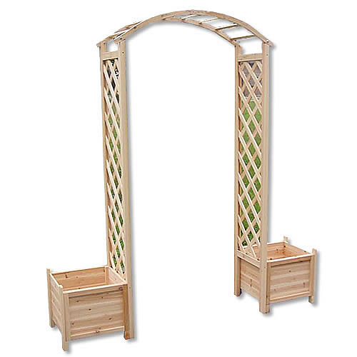 rosenbogen holz pergola torbogen rankhilfe spalier blumenk bel rankgitter s ule ebay. Black Bedroom Furniture Sets. Home Design Ideas