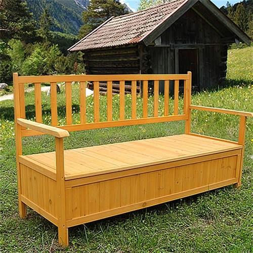 auflagenbox holz gartentruhe kissenbox holztruhe holzbank truhenbank bank box ebay. Black Bedroom Furniture Sets. Home Design Ideas