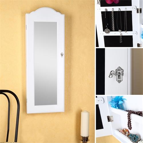 schmuckschrank spiegelschrank h ngeschrank spiegel wandspiegel schmuck wand ebay. Black Bedroom Furniture Sets. Home Design Ideas