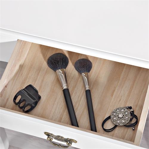Kosmetiktisch spiegel hocker wei braun sekret r - Schminktisch braun ...