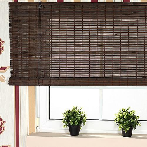 bambus raffrollo bambusrollo faltrollo holzrollo rollo sichtschutz jalousie neu ebay. Black Bedroom Furniture Sets. Home Design Ideas