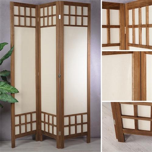 Trennwand Aus Holz Im Schlafzimmer: Raumteiler Holz Paravent 3tlg. Stellwand Umkleide