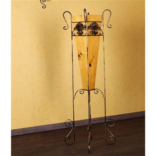 117cm bodenvase vase blumenvase blumenst nder dekovase metallgestell holz m01. Black Bedroom Furniture Sets. Home Design Ideas