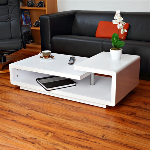wohnzimmer weiß holz: Tisch Wohnzimmertisch Holz Hochglanz Wohnzimmer Weiß