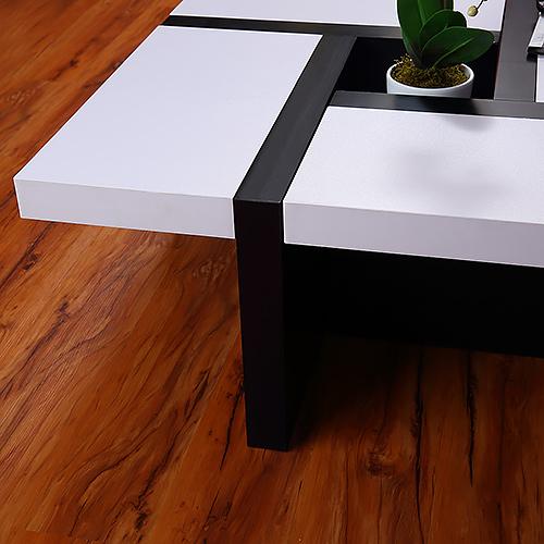 Designer Couchtisch Wohnzimmertisch   Weiß   Braun/schwarz   Art. Nr.  10001417