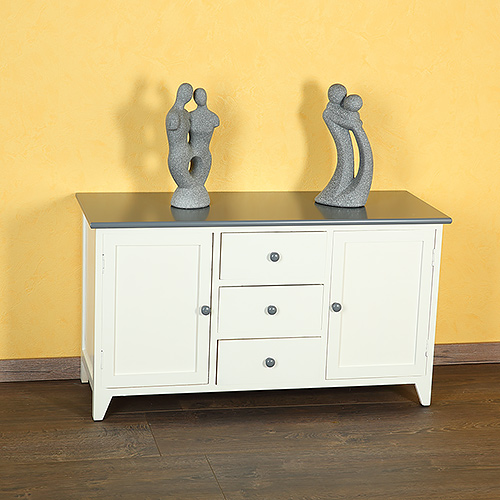 landhaus diele flurbank kommode schrank bad sitzbank lowboard in wei natur grau ebay. Black Bedroom Furniture Sets. Home Design Ideas