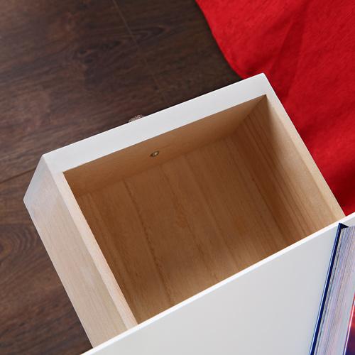 Nachttisch nachtkonsole schrank schlafzimmer wei kommode for Kommode quadratisch