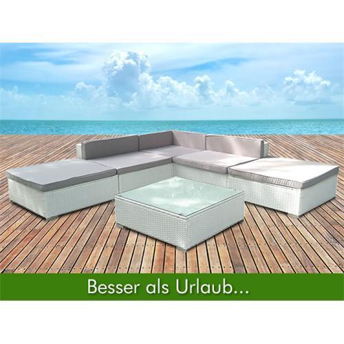 Garden Furniture Rattan Lounge White Polyrattan Seating ...