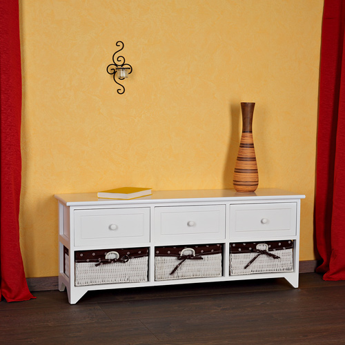 Sitzbank Truhe Chest Weis : Home, Furniture & DIY > Furniture > Tru...