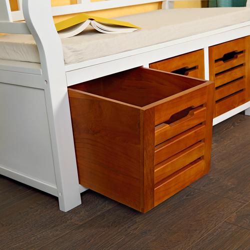 sitzbank flurbank holz wei landhaus holzbank truhe kommode bank hocker e. Black Bedroom Furniture Sets. Home Design Ideas