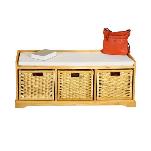 sitzbank schuhregal schuhablage sitzkommode holz 2. Black Bedroom Furniture Sets. Home Design Ideas