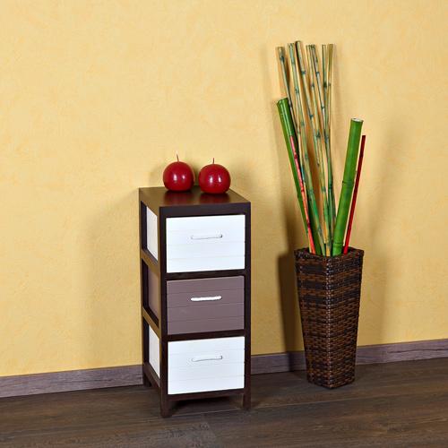 wohnzimmer regal holz: -Holz-Sideboard-Braun-Weis-Wohnzimmer-Flur-Regal-Schrank-NEU
