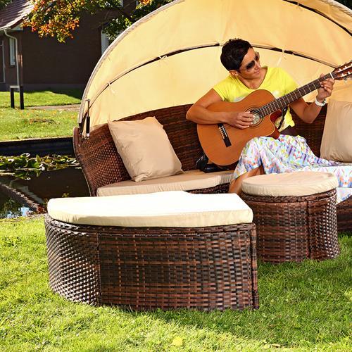 Gartenmobel Aus Europaletten Bauen Anleitung : Details zu Polyrattan Gartenmöbel Set Sitzmöbel Rattanmöbel Lounge