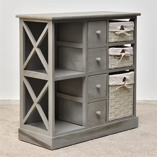 konsole sitzbank truhenbank hochregal used look shabby chic sitzkommode aus holz ebay. Black Bedroom Furniture Sets. Home Design Ideas