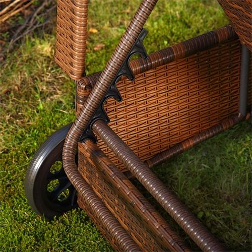 Rattan Sonnenliege Gartenliege Polyrattan Rattanmöbel Terrassen Liege Schwarz Br eBay ~ 18031819_Liegestuhl Mehrfach Verstellbar