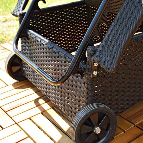rattan sonnenliege gartenliege polyrattan rattanm bel terrassen liege schwarz br ebay. Black Bedroom Furniture Sets. Home Design Ideas