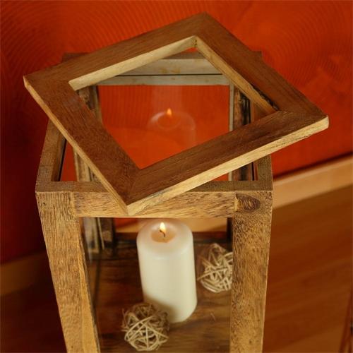 windlichterset wei braun 3 teilig windlichter laternen s ule kerze holzlaterne ebay. Black Bedroom Furniture Sets. Home Design Ideas