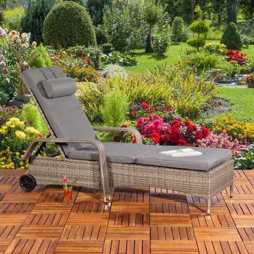 polyrattan gartenlounge gartengarnitur sofa grau. Black Bedroom Furniture Sets. Home Design Ideas